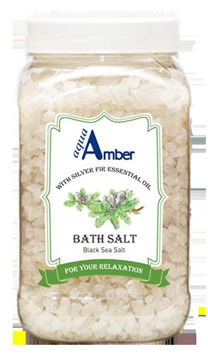Bath salt AQUA AMBER with Silver Fir essential oil, 630g