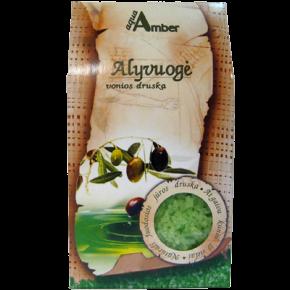 """Natural BATH SALT AQUA AMBER """"Olive"""", 500g"""