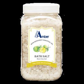 Vonios druska AQUA AMBER su Bergamočių eteriniu aliejumi, 630g