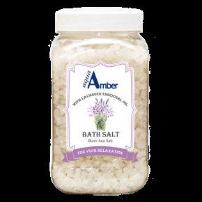 Соль для ванны AQUA AMBER с эфирным маслом лаванды, 630г