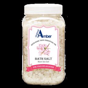 Соль для ванны AQUA AMBER с эфирным маслом розовое дерево, 630г